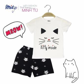 Bộ đồ kitty trắng cho bé gái