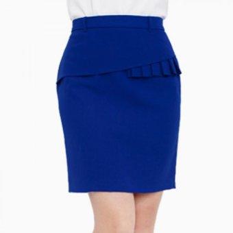 Chân váy ôm phối bèo - V05123060 (Xanh Coban)