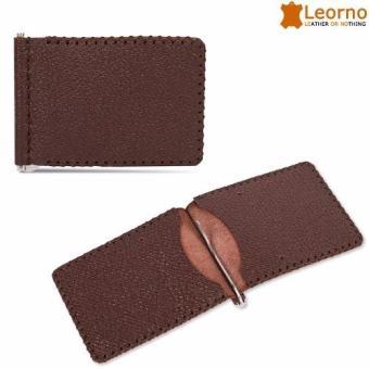 Ví da kẹp tiền handmade Leorno VD29 (Nâu)