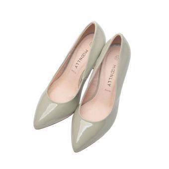 Giày bít nữ mũi nhọn cao gót Moonlly