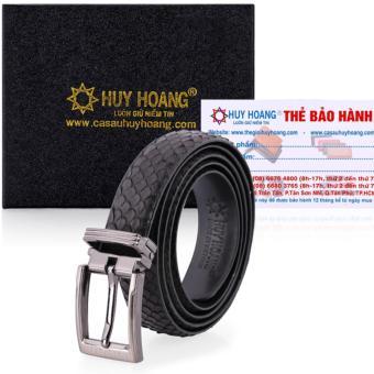HL5301 - Thắt lưng nữ da trăn Huy Hoàng màu đen