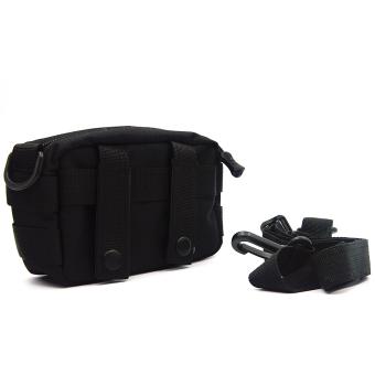 Molle Tactical Storage Bag Cross Body Messenger Tote Bag Shoulder Satchel Army Gear Leisure Flap Handy Pouch Black
