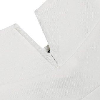 Cyber Zeagoo Sexy Women Spaghetti Strap Plunging V Neck Sheath Bodycon Dress (White) - Intl