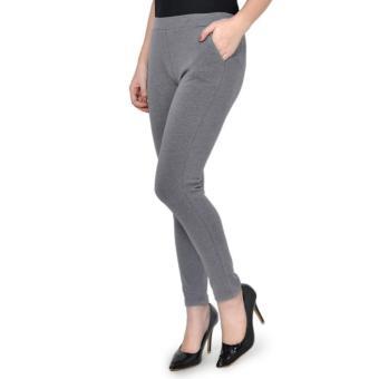 Quần legging nữ cao cấp Cotton co giãn 4 chiều Màu Xám
