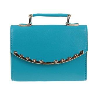 2016 Hot women Shoulder Messenger Bag(Blue) - intl