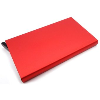 Moonar Unisex Card Case Business Aluminum Credit Card Protector RFID Card Holder (Red) - intl