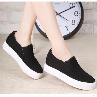 Giày slip on nữ đế tăng chiều cao 5cm màu đen GL80