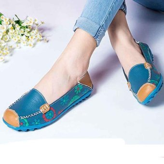 New Women Leather Shoes Loafers Soft Leisure Flats Female Casual Shoes - intl
