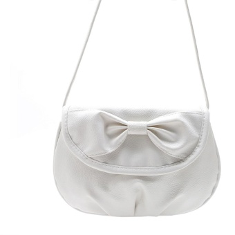 Women Bag Shoulder Bowknot Satchel Body Tote Handbag White - intl
