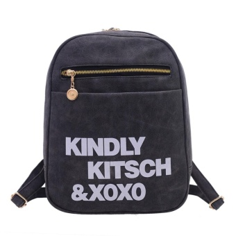 Women Handbag PU Shoulder Messenger Bag (black) - intl