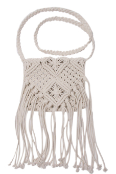 Lalang Crossbody Bags Cotton Cord Handmade White