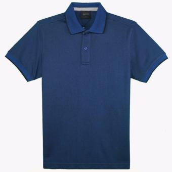Áo thun polo Milvus tay ngắn màu xanh navy