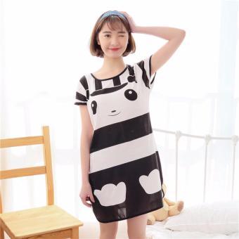 Váy ngủ hoạt hình ngộ nghĩnh ROZALO RWV62201YT - Trắng đen