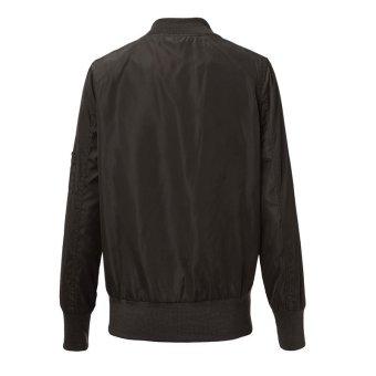 ZANZEA Pure Color Stand Collor Coat Women Fashion Jacket (Intl)
