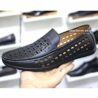 Giày da bò đục lỗ GL93 (Đen) thoáng khí cung cấp bởi THỜI TRANG DA