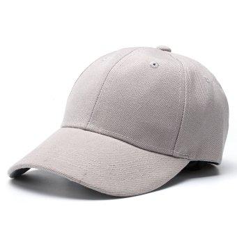 Fashion Men's Women's Bboy Hip Hop Cap Adjustable Baseball Snapback Unisex Hat Grey - intl