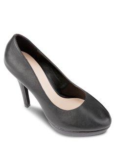 Giày Cao Gót Bít Đúp Tròn 12cm (Đen)