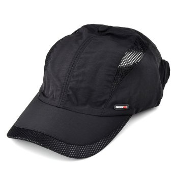 Moonar Men's Quick Drying Baseball Cap (Black) - Intl