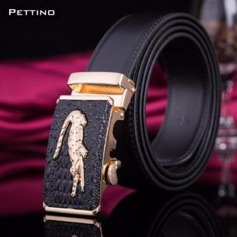 Thắt Lưng Nam Cao Cấp - Pettino TN01 (mặt đen)