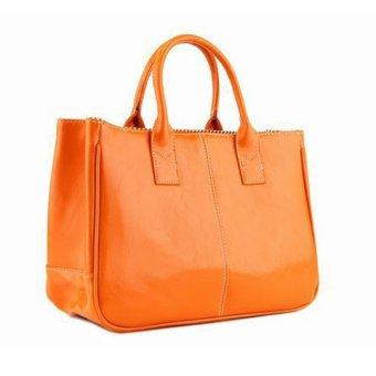 Fashion Elegant Korean shoulder bag Leather Women Lady Tote Handbag Orange - Intl