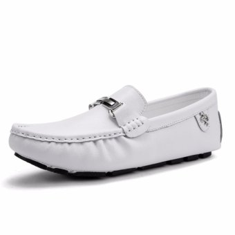 Jarma man's loafers slip-Ons shoes driving shoes male shoes flat moccasin Tods (White) - intl