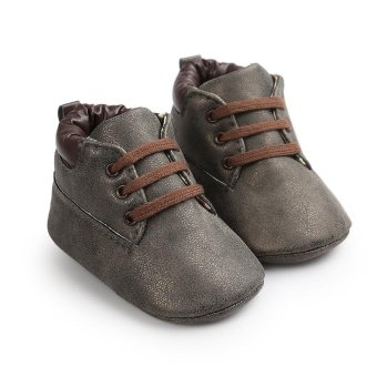 Baby Toddler Soft Sole Leather Shoes Infant Boy Girl Toddler Shoes - intl