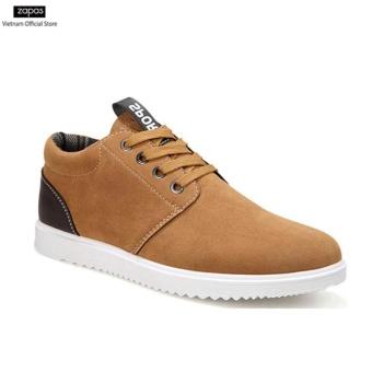Giày Sneaker Thời Trang Da Lộn Zapas - GS040 (Màu Nâu Vàng)