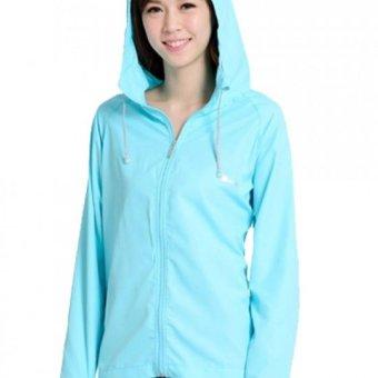 Áo khoác chống nắng cotton 2 trong 1 DMA store (xanh ngọc) tặng kèm khẩu trang hoạt tính