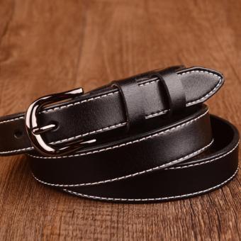 Dây lưng nữ bản nhỏ phong cách OL Hoa Kỳ ROT006 (Đen) - 3707640
