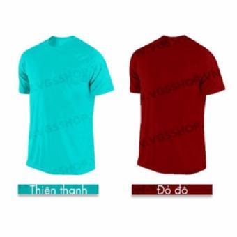 Bộ 2 áo thun NAM LAKA A1113 (Xnah ngọc + Đỏ đô)