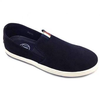 Giày lười vải nam Everest E297 (Xanh đen) C64