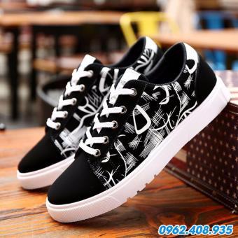 Giày Sneaker Nam Thời Trang FairShop FG-444D (Đen trắng)