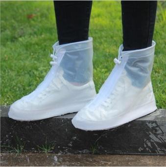 Ủng đi mưa thời trang, chống trơn trượt và Bảo vệ giày(Size L)