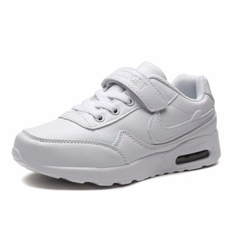 Jarma kid's all white sneakers school shoes students shoes (White) - intl