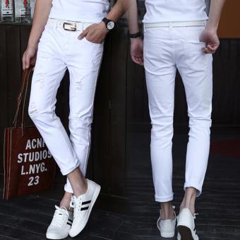 Quần jeans nam đậm chất bụi cho các bạn nam 135 (Trắng)