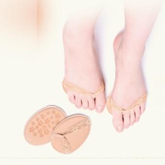 Bộ 2 Miếng đệm, lót giày bằng vải phối ren xỏ ngón Kim Phát (da)