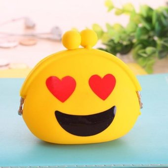 Women Silicone Jelly Wallet Change Bag Key Pouch Coin Purse Yellow - intl