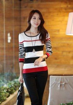 Áo len tay dài 6032 (Đỏ Đen)