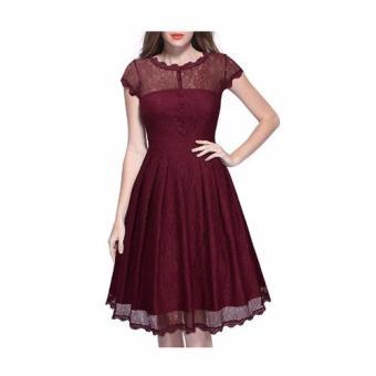 Đầm Công Sở Naza V43do (Đỏ)