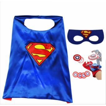 Áo choàng mặt nạ Superman + Tặng găng tay bắn thẻ nhựa