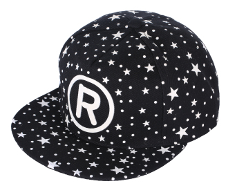 niceEshop Unisex Canvas Hat Fluorescence Letter R Adjustable Plain Baseball Snapback Caps