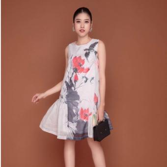 Đầm in hoạ tiết