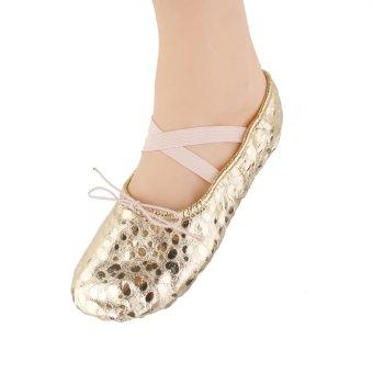 Women Girl Ballet Pointe Leather Dance Shoes - intl