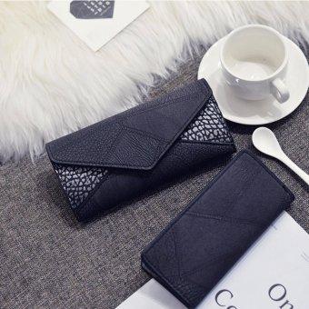 Bộ đôi ví cầm tay nữ da cao cấp ( đen)
