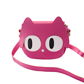 Big Eyes Cute Cartoon Shoulder Bag Messenger Bag Hot Pink - Intl