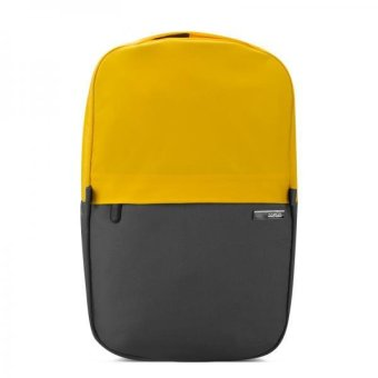 BolehDeals Waterproof Backpack Bag for 13 inch Notebook Laptop Gray with Yellow - intl