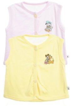 Bộ 2 áo khỉ thêu trẻ em Nanio A0004-Hv (Hồng Vàng)