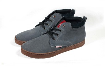 Sneakers phối dây đen Tathanium Footwear (Xám chì)