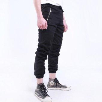 Quần jogger kaki nam TNCC zipper túi trước QV015