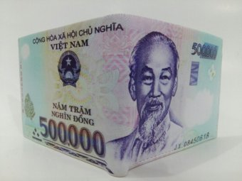 Bóp Da Nam Hình Tiền 500 VNĐ Loại Lớn